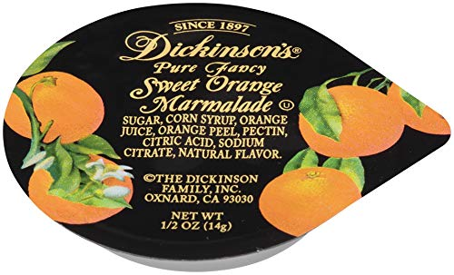 Sweet Orange Preserves - Dickinson's Pure Fancy Sweet Orange Marmalade, 0.5 Ounce (Pack of 200)