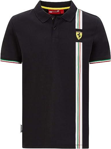 SHIRT Mens Scuderia Ferrari Classic Cotton Longsleeve Formula One 1 NEW Black