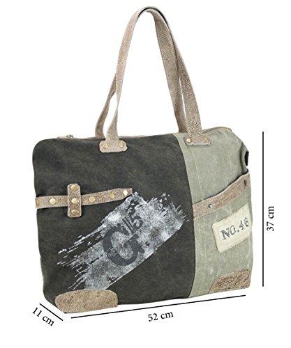 Sunsa Borse da Donna Vintage Borse a tracolla Borsette in Canvas / Telo olona con pelle 51916