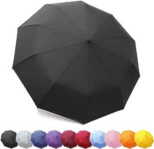 ZOMAKE Compact Travel Umbrella Windproof - Lightweight Folding Umbrella Automatic Open Close …