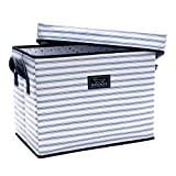 SCOUT Rump Roost Medium Lidded Storage Bin, Collapsible and Stackable, Reinforced Side Handles and Bottom, Water Resistant, Blue Book
