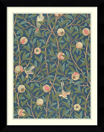 Framed Wall Art Print Bird and Pomegranate' Wallpaper Design, Printed by John Henry Dearle, 1926 by William Morris 26.38 x 33.50