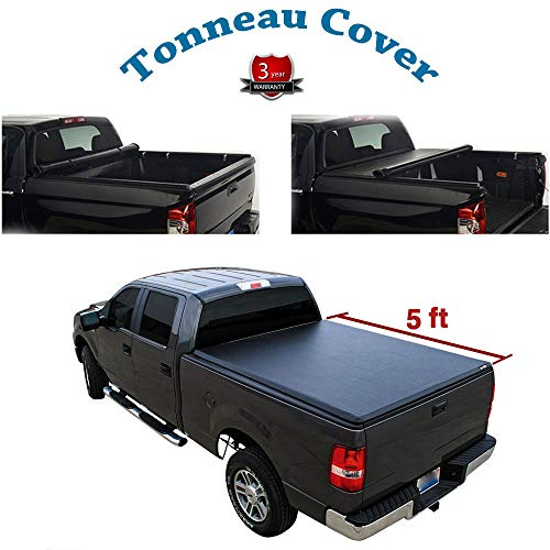 - Deebior for 2004-2014 Chevrolet Colorado 2004-2012 GMC Canyon 5 Feet Short Bed Only Lock & Roll Up Soft Tonneau Cover Top Mount Assembly w/Rails+Mounting Hardware