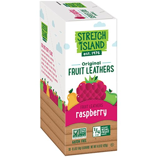 Fruit Leather - Stretch Island Original Fruit Leather, Ripened Raspberry, 0.5 Ounce (Pack of 30)