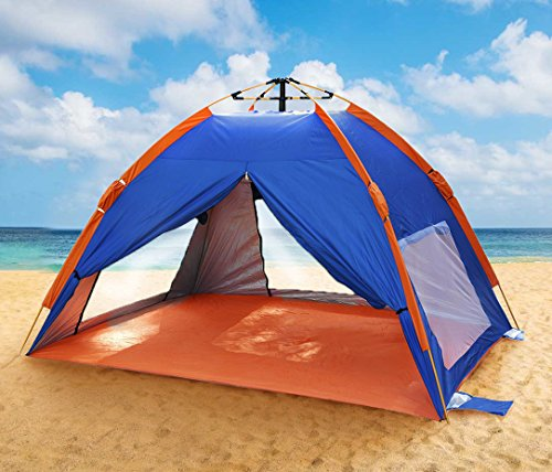 Qwest Premium Easy Instant Pop Up Park & Beach 2-Person Sun Shelter Tent, Blue, UV Protection, Water Resistant Windproof Lightweight, Sets Up in Seconds