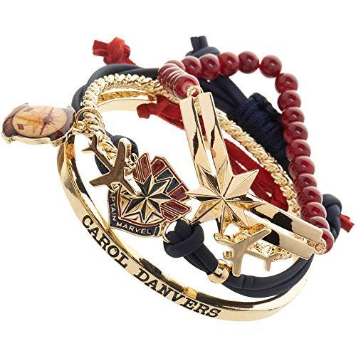 Marvel Captain Marvel Jewelry Bracelets - 4-Pack