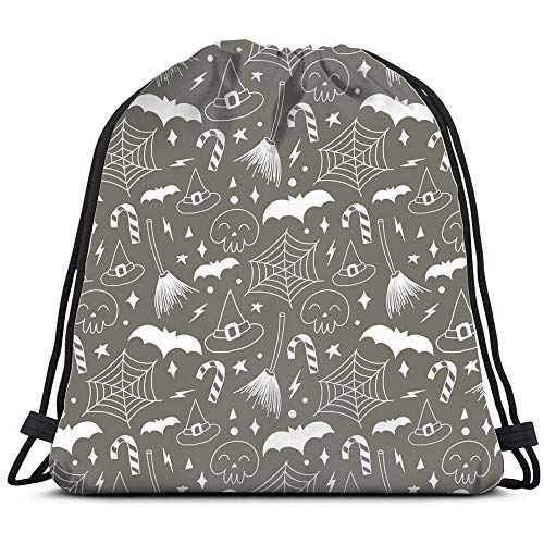 Happy Halloween Autumn Holiday The Arts Art Holidays Drawstring Backpack Bag For Kids Boys Girls Teens Birthday, Gift String Bag Gym Cinch Sack For School And Party]()