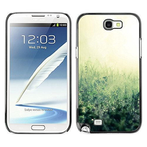 Soft Silicone Rubber Case Hard Cover Protective Accessory Compatible with SAMSUNG GALAXY NOTE 2 & N7100 - Plant Nature Forrest Flower 38