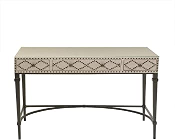 Madison Park Senna Cream/Graphite Nailhead Writing Desk