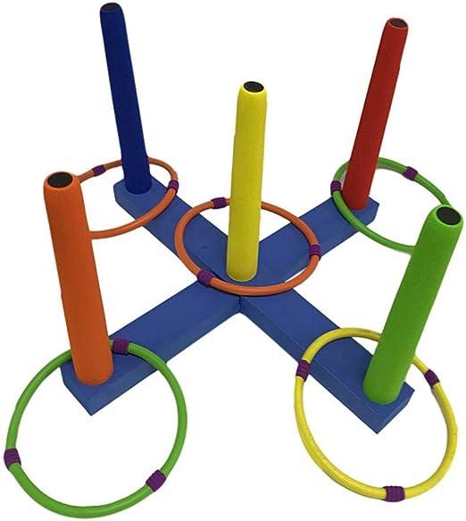 Jannyshop Juegos Jardin Ring Toss Set-Los Juguetes Lúdicos para Divertidos Juegos de Deportes Mejoran La Coordinación de Los Ojos con Las Manos: Amazon.es: Hogar