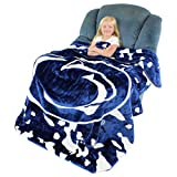College Covers Penn State Nittany Lions Soft Rachel Plush Throw Blanket, 63 x 86'