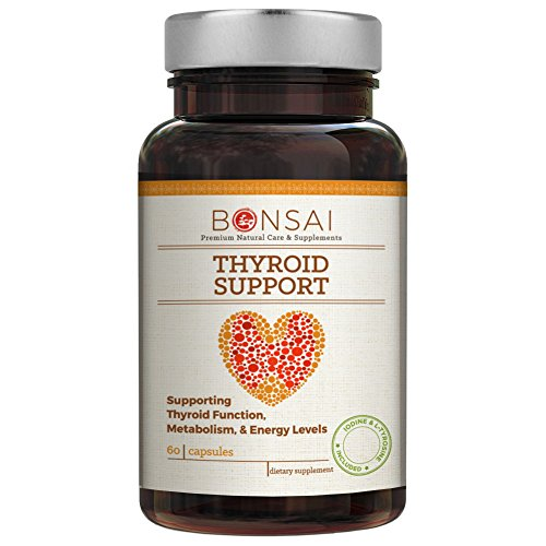 Thyroid Enhance - Premium Thyroid Support Complex with L-Tyrosine & Iodine for Thyroid Health, Metabolism, Hormone Levels (60 Capsules) - Bonsai Naturals