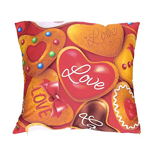 - CUCUHAM Valentine's Day Print Pillow Cases Polyester Sofa Car Cushion Cover Home Decor