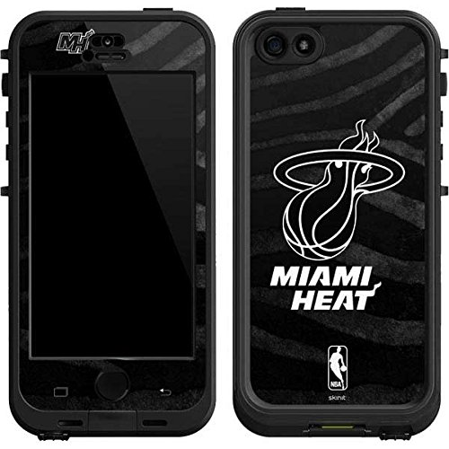 Skinit Miami Heat Black Animal Print LifeProof Nuud iPhone 5/5s/SE Skin for CASE - Officially Licensed NBA Skin for Popular Cases Decal - Ultra Thin, Lightweight Vinyl Decal Protection