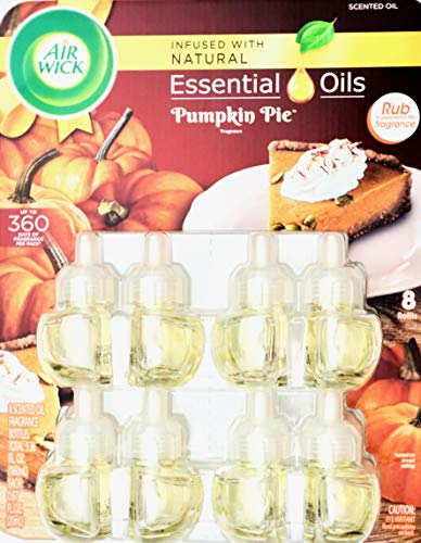 (Air Wick Pumpkin Spice Baked Pie Fragrance, 8 Scented Oil Refills)