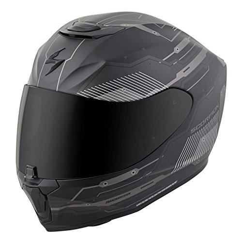 Scorpion EXO-R420 Full-Face Helmet Techno Phantom Black Medium (More Size Options)