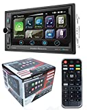 Power Acoustik Video - POWER ACOUSTIK CP-650 Double DIN Bluetooth in-Dash Digital Media Car Stereo Receiver with Touchscreen, Apple CarPlay, 6.5