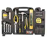 Homeowner Tool Set DOWELL Tools 90 Pieces General Household Hand Tool Kit with Plastic Tool box Storage Case
