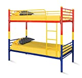 @home by Nilkamal Nemo Bunk Bed without Storage (Matte Finish, Red, Yellow and Blue)