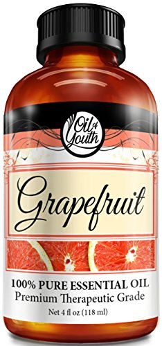 Oil of Youth Grapefruit Essential Oil Pure Best Therapeutic Grade, Large, 4 Fluid Ounce