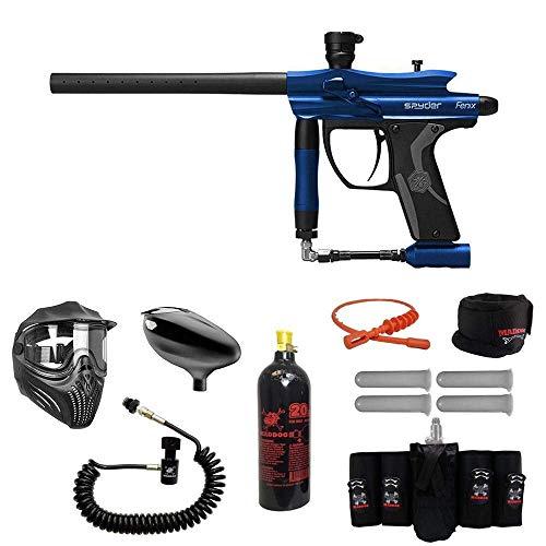 MAddog Spyder Fenix Elite Remote CO2 Paintball Gun Package - Blue