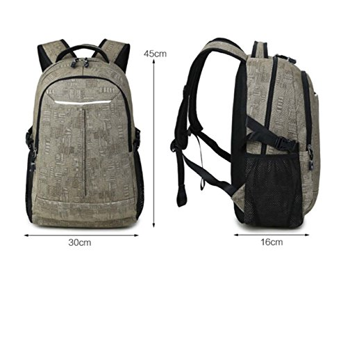 Casual Fashion Backpacks Laptop Leather Backpack Carrying School Campus Travel Backpack Canvas Surface School Hiking For Blue Bag Bookbag Teenagers Pack Gym Et0wxqZI