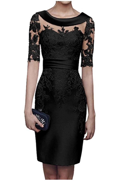 Alice Dressy E-tui Brautmutterkleid Partykleid kurz Abendkleid Festkleid Formalkleid Knielang mit 3/4 Arm