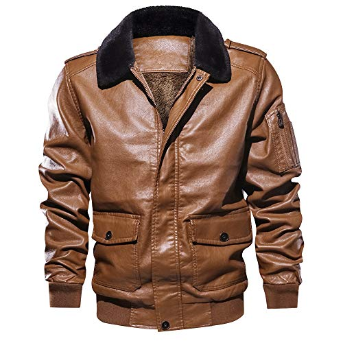 Homme Col Pu Percy Fourrure Perry Poches L'hiver Blouson Brun qx5fzTfg