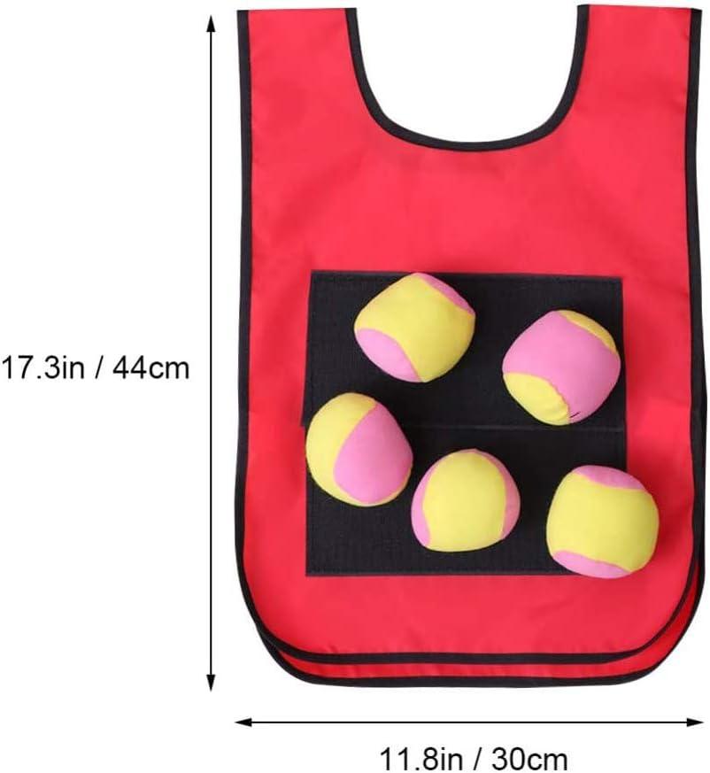 Oulian 1 Chalecos de Tiro con 5 Bolas de algod/ón Juego de Objetivo de Lanzamiento Juego de Chaleco de Velcro con Bola de Tiro