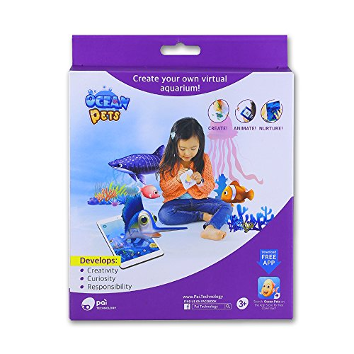 PAI TECHNOLOGY Ocean Pets |Educational STEM Toy Create  Virtual Aquarium|Learn Coding & Programming w/ Augmented Reality Play