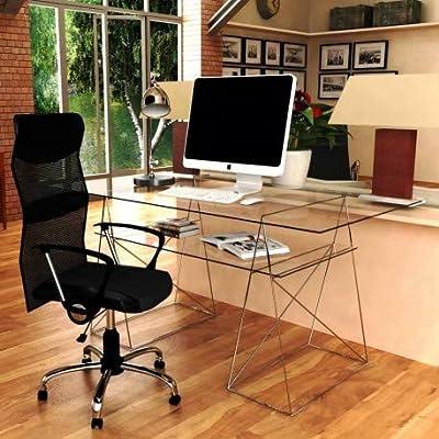 Mesa de mesas de Estudio Base caballetess Doble Cristal kme122001 ...