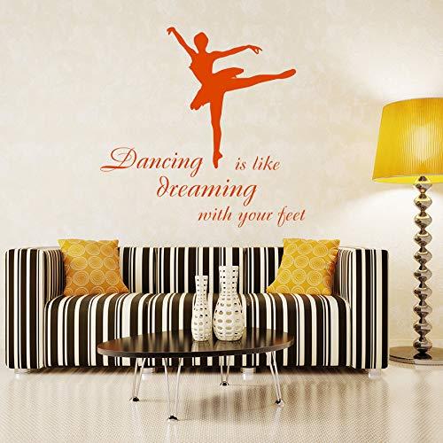 zzlfn10lv Bailarina Bailarina Walll Decal Ballet Studio Vinyl ...