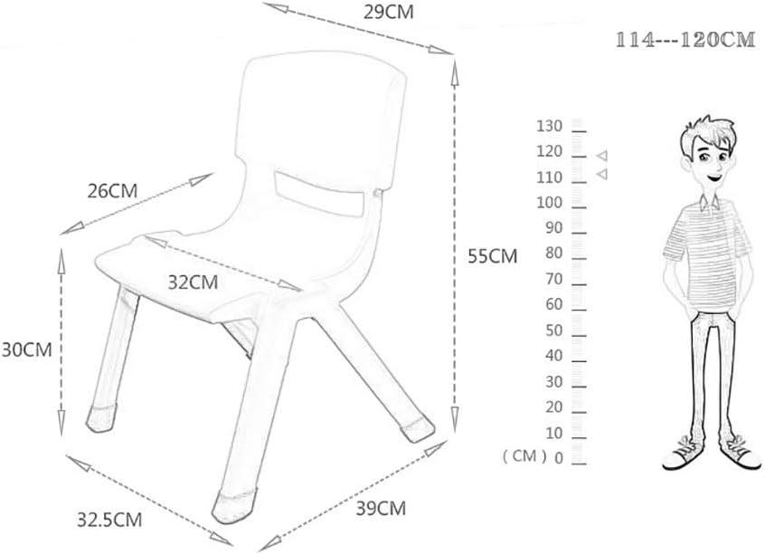 Chaise de Salle à Manger, Plastique Blanc, Mode Hauteur D'assise 30cm (Color : A) B