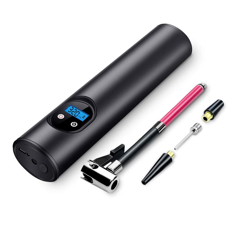 QWERTOUY 150PSI Mini gonfleur /électrique Portable Pompe v/élo v/élos /électrique Automatique Compresseur dair Pompes v/élo UE Plug avec /écran LCD Di