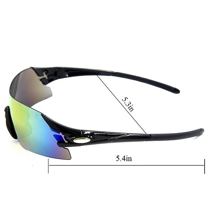 Amazon.com : eDealMax Xingsheng autorizado Deportes Ciclismo Gafas de sol de la bici de lentes intercambiables Riding Running Gafas Hombres Mujeres : Sports ...