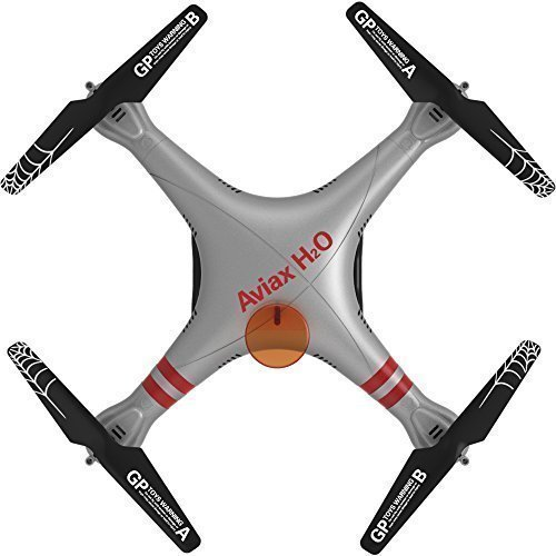 GPTOYS H2O Aviax RTF Quadcopter 1st RC toys Outdoor Waterproof Drone 2.4G LCD Cntroller Sliver