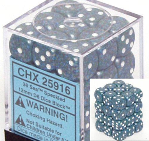 『5年保証』 Chessex Dice d6 Sets: B000RZN60E Sea Specked - - Sets: 12mm Six Sided Die (36) Block of Dice B000RZN60E, リフォームのピース ザネクスト:afee061e --- cliente.opweb0005.servidorwebfacil.com
