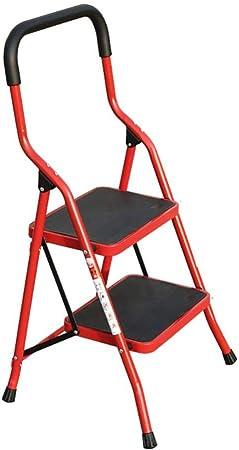 XITER Escalera Plegable - Taburete de pie/Escalera portátil para Adultos y niños (Color : Rojo): Amazon.es: Hogar