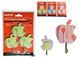 3PC Apple Adhesive Hooks Size: 2'' x 3'' , Case of 144