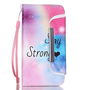 iPhone 6 Case,Apple iPhone 6 Case,Gift_Source [Stay Strong Love] [Wallet Function] Magnetic Snap Case Wallet Case Detachable Soft TPU Case Cover for Apple iPhone 6 4.7 inch