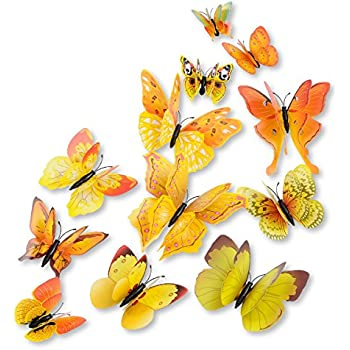 Amazon.com: Amaonm 24pcs 3d Vivid Special Man-made Lively Butterfly ...