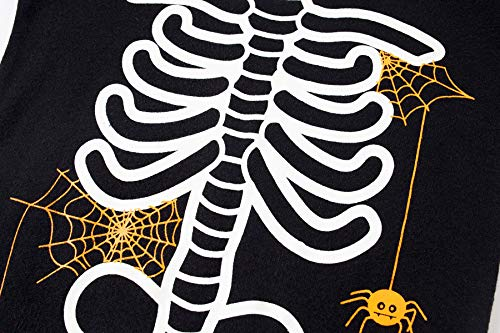 Family Feeling Halloween Skeleton Little Boys Girls Pajamas Sets 100% Cotton Clothes Costumes Toddler Kids Pjs Size 5 by Family Feeling (Image #1)