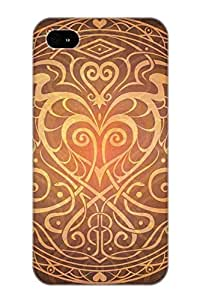 Exultantor Cohvjz-1067-uwrhgkp Case Cover Skin For Iphone 4/4s (heart Of Wisdom Mandala)/ Nice Case With Appearance