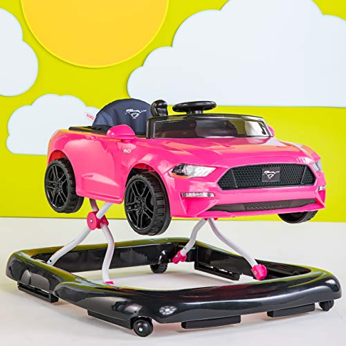 51qDmYB3aDL - Bright Starts 3 Ways To Play Walker, Ford Mustang Pink, 6 Months Plus