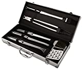 Kuhn Rikon 5 Piece BBQ Tool Set with Case, Stainless Steel