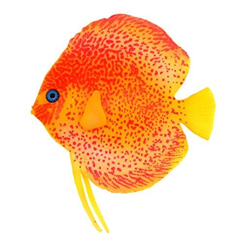 (Saim Aquarium Lifelike Plastic Artificial Moving Floating Fish Ornament Decorations for Fish Tank)