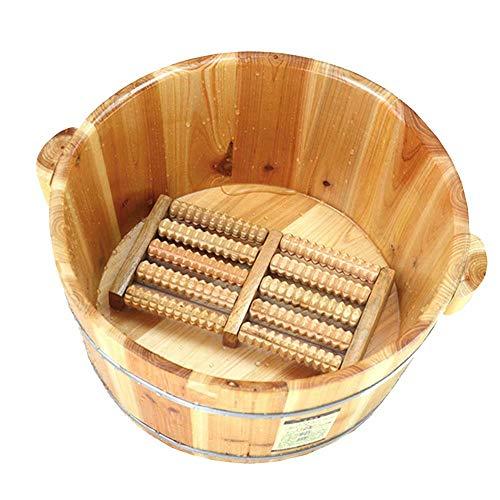 (Foot Bath Barrel Solid Wood Natural Thicken Foot Basin Wooden Bucket Foot Spa Tub Household Sleep, Improve)