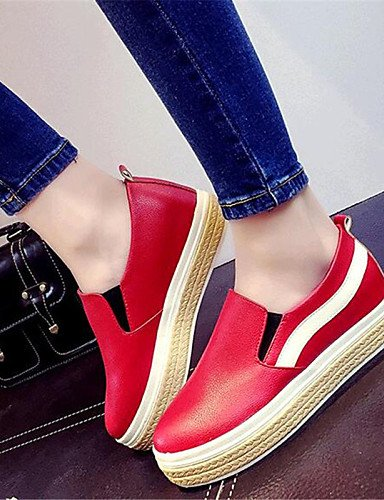 uk6 red cn39 Blanco us8 7 ZQ Exterior Plataforma Rojo uk4 uk6 cn39 gyht Creepers mujer red eu39 Zapatos us6 Mocasines eu37 5 5 Semicuero red eu39 de Negro 5 cn37 Casual us8 wBawU7