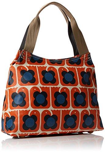 Bag 7005 Kiely Print Orla Classic Mujer Hombro Naranja De Zip Shoulder Love Bolsa Birds persimmon 6wqx0q4