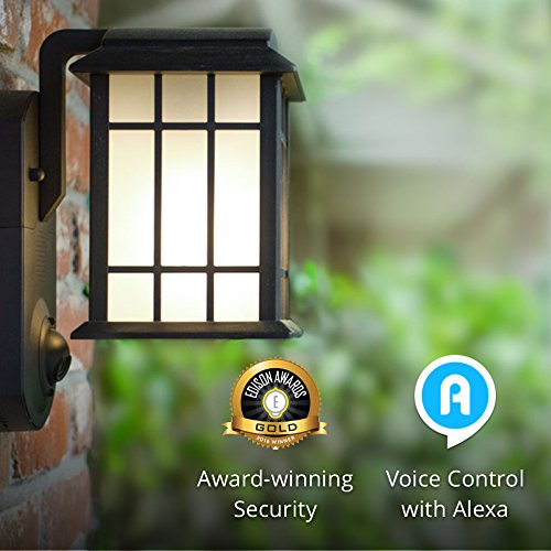Maximus Video Security Camera & Outdoor Light - Craftsman Black - Works with Amazon Alexa by Kuna (Image #6)